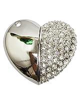 Pen Drive ZT11613 Heart Shape Fancy Jewellery Style 16 GB USB 2.0 pen drive in Silver Color