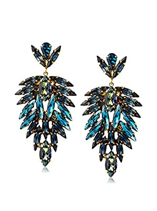 Tova Shades of Blue Feather Earrings