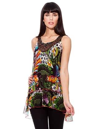 Peace & Love Top Jaretas (negro /verde / naranja)