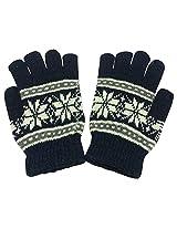 Graceway Unisex Woollen Gloves (GL4, Navy, Free Size)