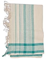 Mala's Collection Adult Assamese Traditional Gamocha (Medium, Green and White)