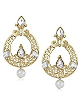 Meenaz Traditional Earrings Fancy Party Wear Kundan Moti Pearl Daimond Earrings For Women - TR138