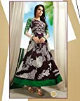 Unstitched Multi Color Top Cotton with Cotton Bottom & Georgette Dupatta With Embroidery & Print Anarkali Salwar Kameez Suit