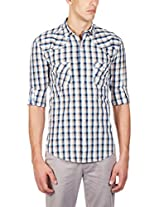 GHPC Men's 100% Cotton Casual Shirt(CS62522_38_Green)