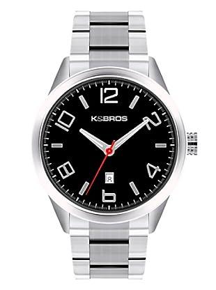 K&BROS 9483-1 / Reloj de Caballero  con brazalete metálico Negro