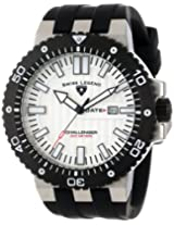 Swiss Legend Men's 10126-02S-BB Challenger White Textured Dial Black Silicone Watch