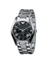 Emporio Armani Ar0673 Men's Silver Strap Wrist Watch