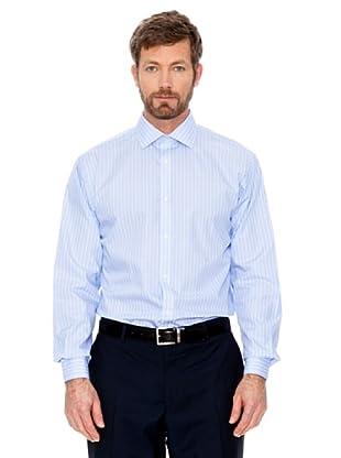 Cortefiel Hemd Gestreift (Hellblau/Weiß)
