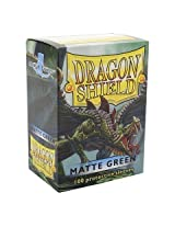 Dragon Shield Matte Green 100 Deck Protective Sleeves in Box, Standard Size for Magic he Gathering (
