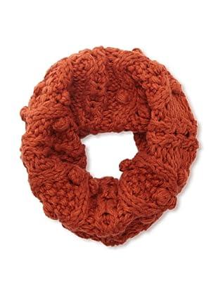 sarajane Women's Knit Loop Scarf (Rust)
