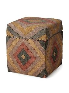 La Boheme Hand Woven Storage Box (Multi/Beige)
