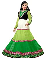 atisundar comely Green Embroidered Anarkali- 4210_32_9010