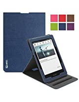 Poetic Sophistication Vertical Flip Cover Case for Amazon Kindle Voyage (2014) Navy Blue