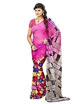 Vibes Patch Work Saree (S22-1416B _Multi-Coloured)