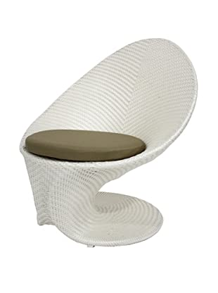 100 Essentials Party All-Weather High-Back Chair, Cream/Clay