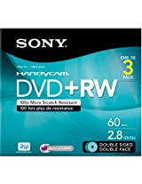 Sony 3DPW60DSR2HC 3-Pack 8cm DVD+RW Double Sided with Hangtab