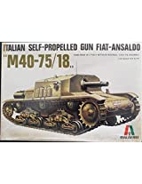 Italeri 1:35 Italian Self Propelled Gun Fita Ansaldo M40 75/18