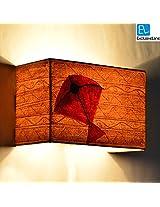 ExclusiveLane Canvas Handpainted Rectangular KITE Wall Lamp