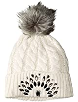Betsey Johnson Women's Knit Family Jewels Beanie