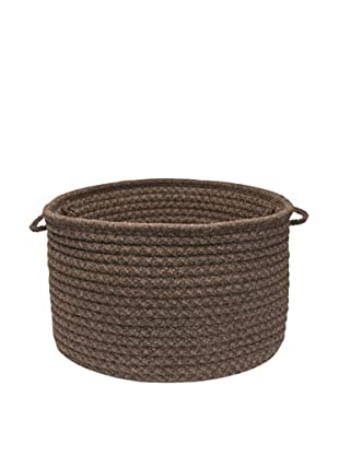 Colonial Mills Natural Wool Houndstooth Basket, (Cocoa)