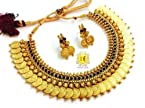 Temple jewellery coin necklace set...black