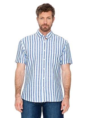 Cortefiel Camisa Multicolor (Azul / Blanco)