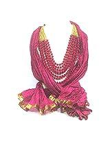 NJS Women's Stole (#JST 04 A_Rani Pink_Free Size)