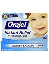 Baby Orajel Teething Pain Medicine, Gel, Cherry Flavor 0.33oz