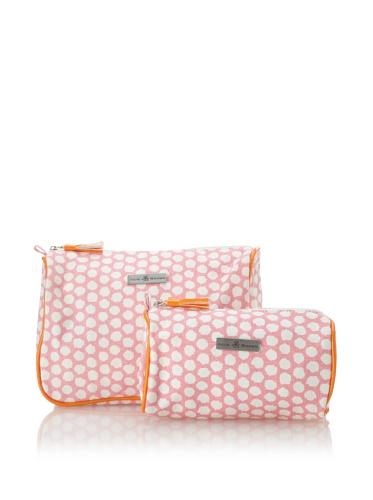 Julie Brown Set of 2 Cosmetic Bags (Pink Polka)