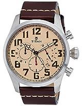 Titan Purple Upgrades Analog Beige Dial Men's Watch - 9477SL02J