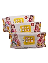 "Mee Mee Wet Wipes With Lemon Fragrance 3pack â€"" 80pcs each pack"