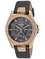 Fossil Riley Analog Grey Dial Women's Watch - ES3888I