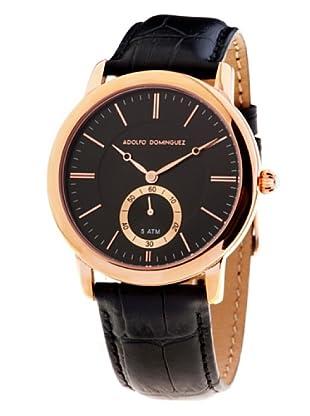 Adolfo Dominguez Watches 52012 - Reloj de Caballero cuarzo correa piel dial Negro