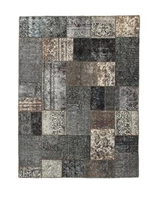 Design Community By Loomier Teppich Revive Vintage Patch grau 156 x 210 cm