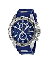 Invicta Signature Ii Blue Dial Stainless Steel Blue Polyurethane Men'S Watch - In7479