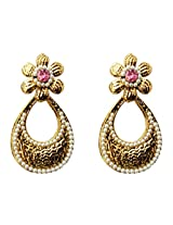 Dhwani Creation Drop Alloy Earrings For Girls and Women (Light Pink)