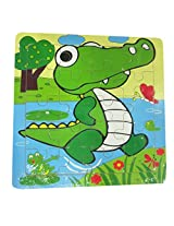 DCS Wooden Crocodile Puzzles 6X6 IN)