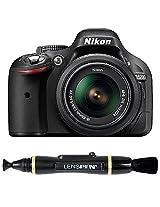 Nikon D5200 24.1MP Digital SLR Camera (Black) with AF-S 18-55 mm VR Kit Lens + Memory Card + Camera Bag + Lenspen NLP-1 Cleaning Brush (Black)
