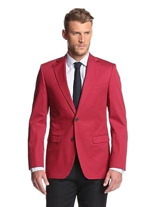 Simon Spurr Men's Solid Sportcoat (Red)