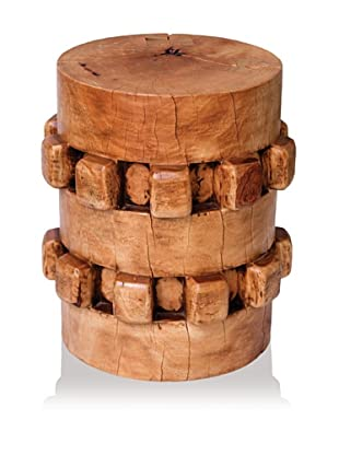 Asian Art Imports Tropical Hardwood Gear Stool