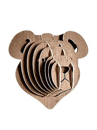 Eco Décor Laser-Cut Animal Trophy Teddy Bear Head, Oak