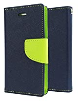 SDO Luxury Mercury Diary Wallet Style Flip Cover Case for Lenovo K3 Note - Blue