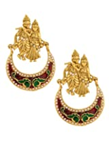 Voylla Gold-Plated Dangle & Drop Earings For Women - Gold(Scbom20086)