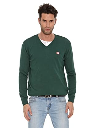 The Indian Face Jersey Cuello Pico Liso (Verde)