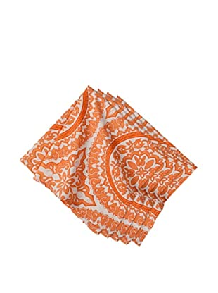Couleur Nature Set of 4 Medallion Napkins, Tangerine