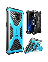 Galaxy S7 Edge Case, i-Blason Prime [Kickstand] Samsung Galaxy S7 Edge 2016 Release [Heavy Duty] [Dual Layer] Combo Holster Cover case with [Locking Belt Swivel Clip] (Blue)
