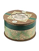 Cottage Garden Sister Belle Papier Round Musical Jewelry Box with Elegance Finish Plays Thats What Friends Are For