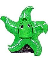 Taiyo Pluss Discovery Star Fish Green Aquarium Décor, (H x L) 4 inches x 2.5 inches