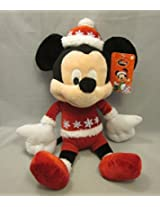 """Disney Holiday Mickey Mouse Red And Snowflake Outfit Rattle In Head 15"""""""