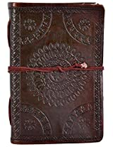 Craft Club Leather Emboos with Pipin Notebook, 6 x 4 inches, 200 Pages